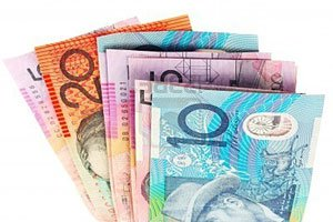 3427177-australian-currency-over-white